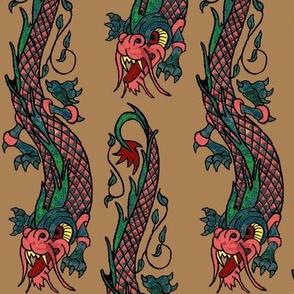 Boho dragon tan