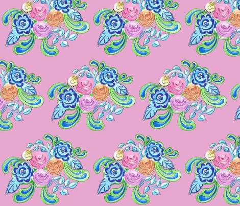 Jardin de Rose fabric by annelinesophiadesigns on Spoonflower - custom fabric
