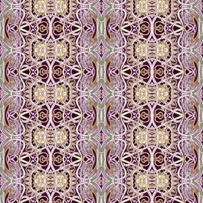 Ye Olde Brown Victorian Vertical Granny Stripe