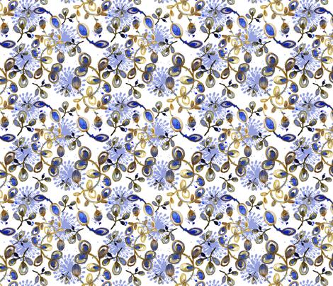 flor_aquarela_azul_fabric8 fabric by gaby_braun on Spoonflower - custom fabric