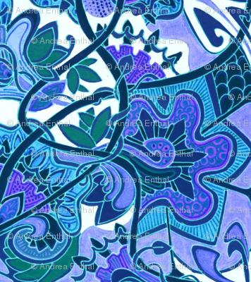Deftly Delft Amoebaflower Tiles