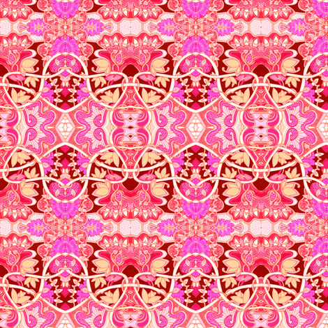 Seeing the Garden Through Rose Colored Glasses fabric by edsel2084 on Spoonflower - custom fabric