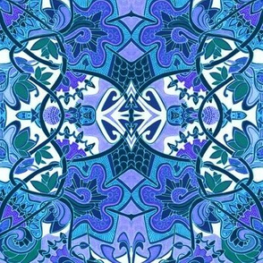 Tropical Blues (and Lavender)