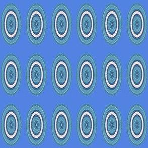 Painted Ovals on Blue © Gingezel™