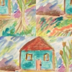 Watercolor Play House