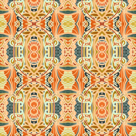 Persian Palace Circle Eight fabric by edsel2084 on Spoonflower - custom fabric