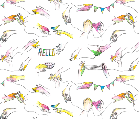 hands! fabric by elenarial on Spoonflower - custom fabric