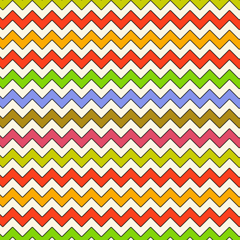 felt monkey zig zag fabric by scrummy on Spoonflower - custom fabric