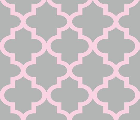 Quatrefoil Blossom & Chinchilla fabric by honey&fitz on Spoonflower - custom fabric