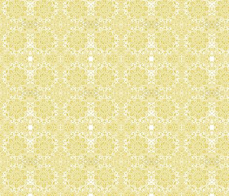 Moorish_ yellow ochre fabric by bee&lotus on Spoonflower - custom fabric
