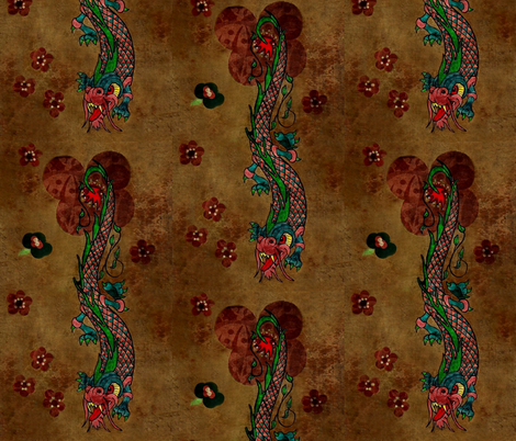 bohemian dragon fabric by paragonstudios on Spoonflower - custom fabric