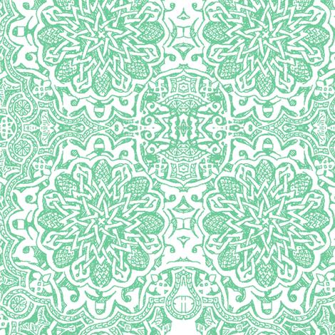 Moorish_aqua fabric by bee&lotus on Spoonflower - custom fabric