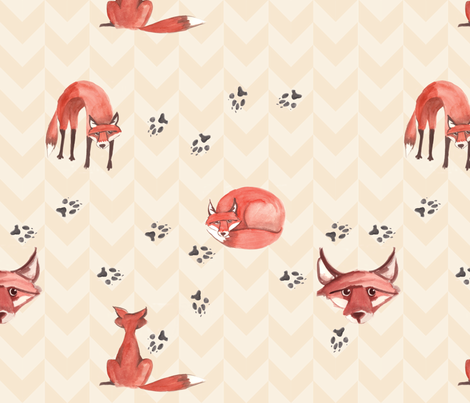 foxes_scatter fabric by nightgarden on Spoonflower - custom fabric