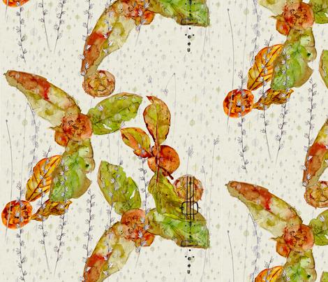 Medlar_Fabric8 fabric by joanneanderson on Spoonflower - custom fabric
