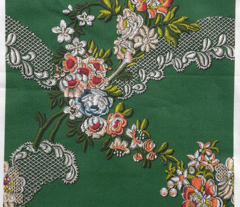 Roses Wave Brocade - Green
