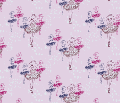 Pen&Ink Ballerina fabric by ivoryshades on Spoonflower - custom fabric
