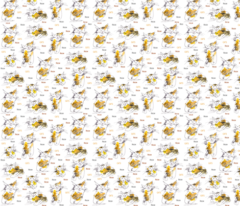 Cats Meow fabric by macgregor-art on Spoonflower - custom fabric