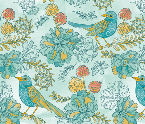 The scented garden fabric by cjldesigns on Spoonflower - custom fabric