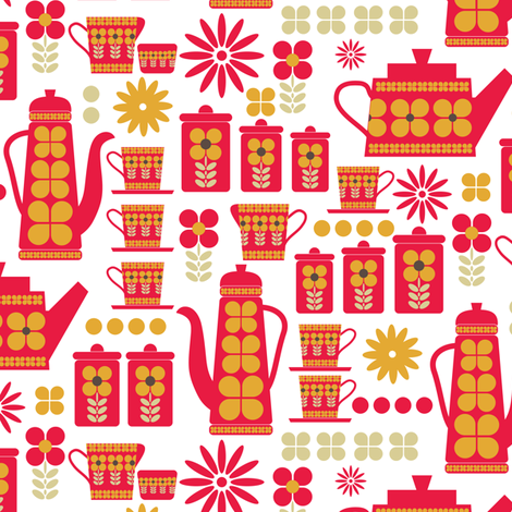 Time for tea fabric by ebygomm on Spoonflower - custom fabric