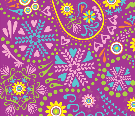 Paisleys Sandra Muñoz fabric by sandramunoz1 on Spoonflower - custom fabric
