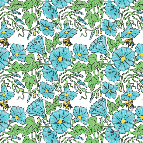 Early Morning Glory fabric by dianne_annelli on Spoonflower - custom fabric