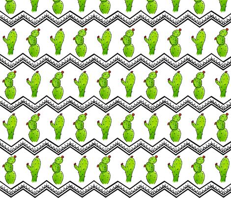 Cactus Chevron fabric by sweetleighmama on Spoonflower - custom fabric