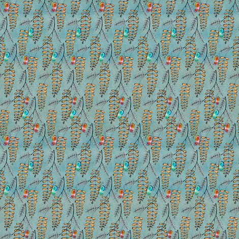 wisteria and butterflies fabric by sary on Spoonflower - custom fabric