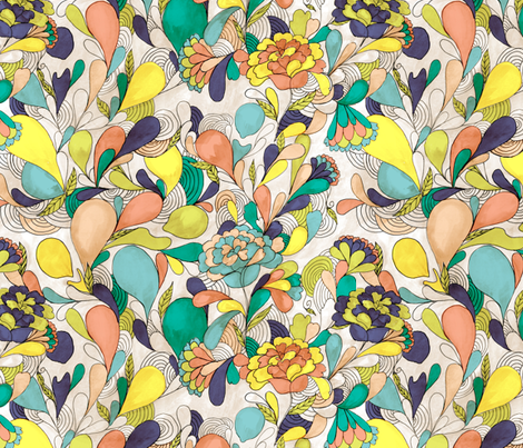 balloons in bloom fabric by made_in_shina on Spoonflower - custom fabric
