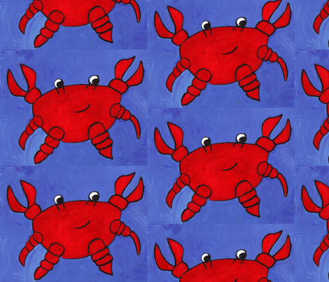 A Little Bit Crabby fabric by sweetleighmama on Spoonflower - custom fabric