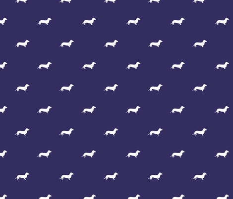 Dachshund Dots fabric by ben_goetting on Spoonflower - custom fabric