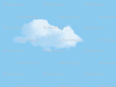 White Fluffy Clouds 3, S