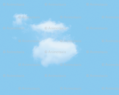White Fluffy Clouds 4, S