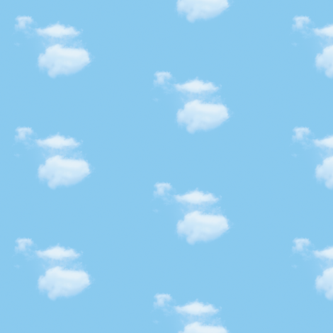 White Fluffy Clouds 4, S fabric by animotaxis on Spoonflower - custom fabric