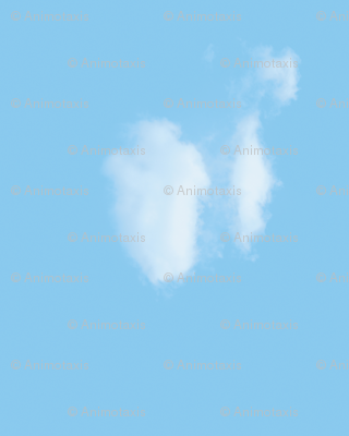 White Fluffy Clouds 4, Border
