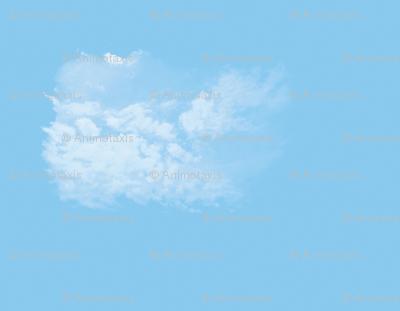 White Fluffy Clouds 5, L
