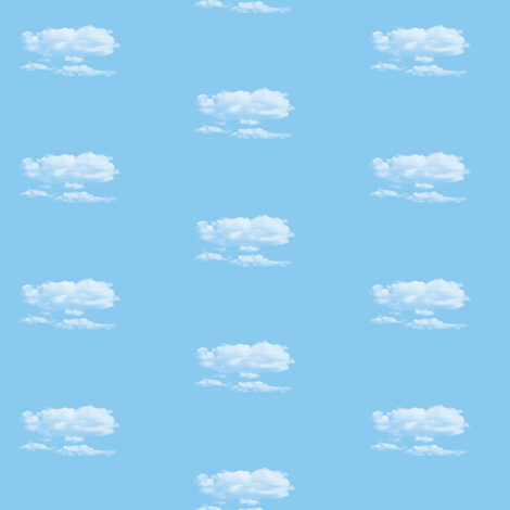 White Fluffy Clouds 6, S fabric by animotaxis on Spoonflower - custom fabric