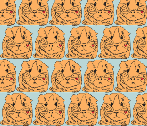 Guinea Pig fabric by lesliecassidy on Spoonflower - custom fabric