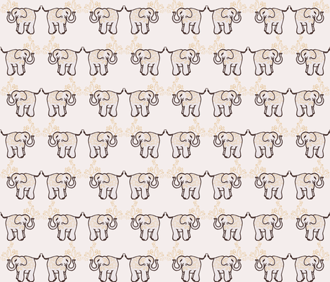 Elephant fabric by amyelyse on Spoonflower - custom fabric