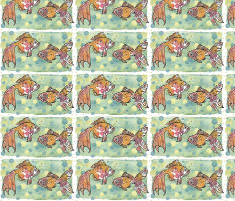 Goldfish (pen & ink, watercolor) fabric by pattyryboltdesigns on Spoonflower - custom fabric
