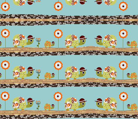 Tortoise_Travels_edited-1 fabric by little_kisses_ on Spoonflower - custom fabric