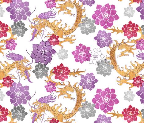 Dragon Flower fabric by newmomdesigns on Spoonflower - custom fabric