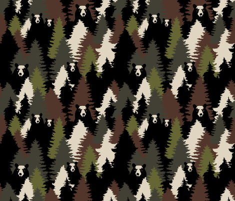 Bears camouflage fabric by kimsa on Spoonflower - custom fabric