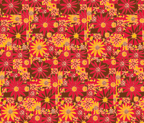 JamJax Kitchen Flower fabric by jamjax on Spoonflower - custom fabric