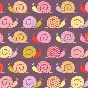 snails on parade - pink