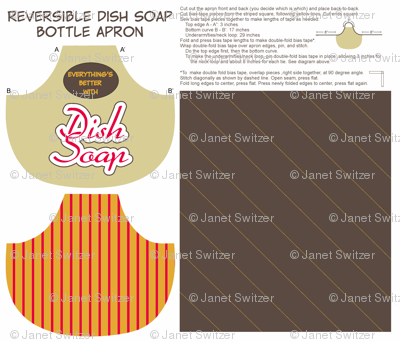 Everything's Better with Dish Soap bottle apron