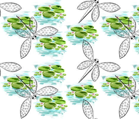 Dragonfly Point of View fabric by miart on Spoonflower - custom fabric