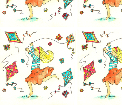 Chasing summer fabric by tracingsink on Spoonflower - custom fabric