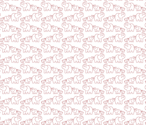 Elephants fabric by th1love on Spoonflower - custom fabric