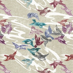 Tumbling Sparrows