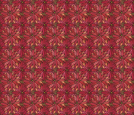 Red Flowers fabric by sarah_angst_arts on Spoonflower - custom fabric